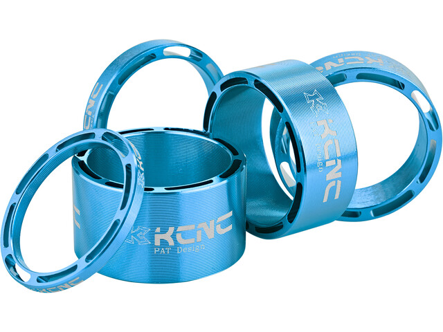 "KCNC Hollow Design Entretoise de jeu de direction 1 1/8"" 3/5/10/14/20mm, blue"